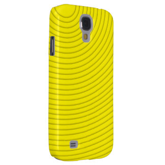yellow spiral line HTC vivid tough Samsung Galaxy S4 Cover