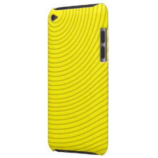 yellow spiral line ipod touch barely there iPod cover