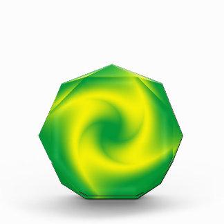 Yellow Spiral on Green Award