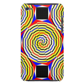 Yellow Spirals Barely There iPod Case
