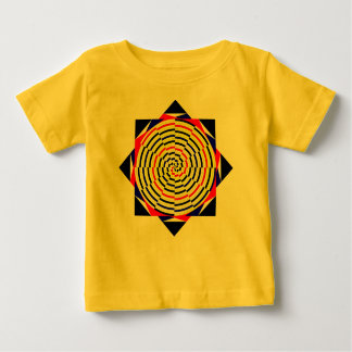 Yellow Spirals by Kenneth Yoncich Baby T-Shirt