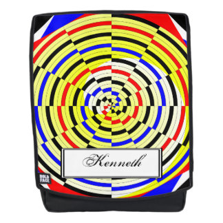 Yellow Spirals by Kenneth Yoncich Backpack