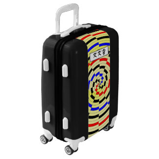Yellow Spirals by Kenneth Yoncich Luggage
