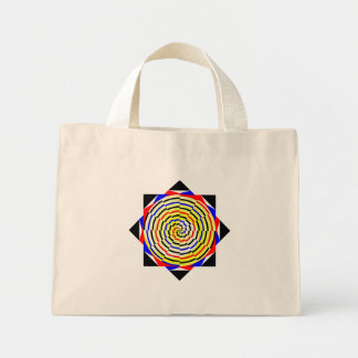 Yellow Spirals by Kenneth Yoncich Mini Tote Bag