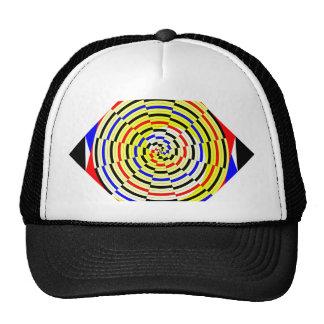 Yellow Spirals by Kenneth Yoncich Trucker Hat
