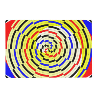 Yellow Spirals Placemat