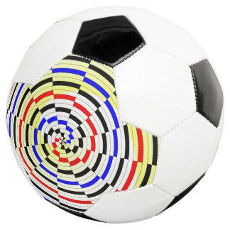 Yellow Spirals Soccer Ball