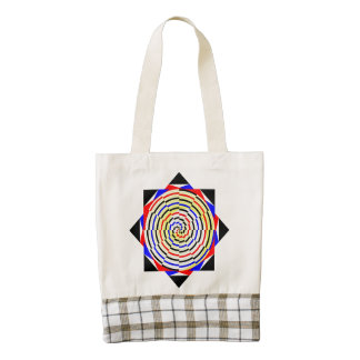 Yellow Spirals Zazzle HEART Tote Bag