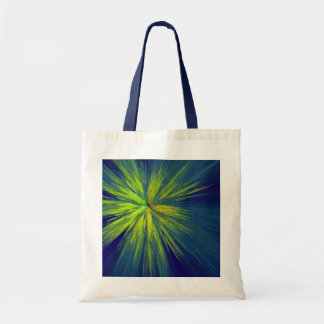 Yellow splash budget tote bag