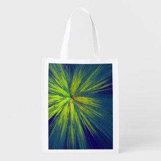 Yellow splash reusable grocery bag