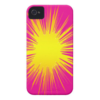 Yellow Splat I-PHONE cover. iPhone 4 Cover