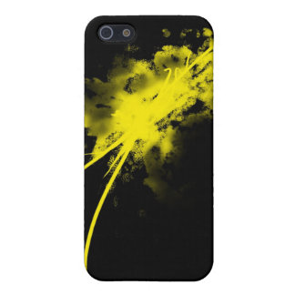 yellow splatter iPhone 5 covers
