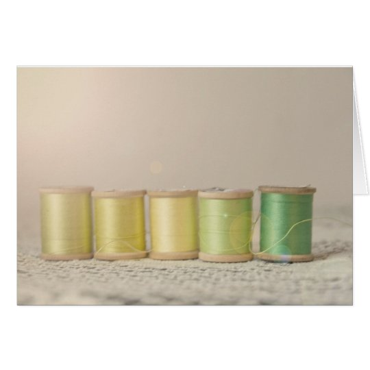 Yellow Spools of thread Card