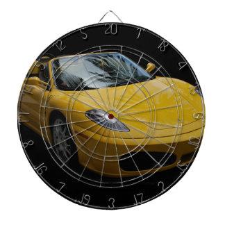 Yellow Sports Car Dart Board