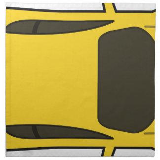 Yellow Sports Car Napkin