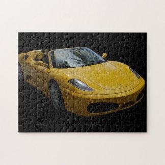 Yellow Sports Car Jigsaw Puzzle