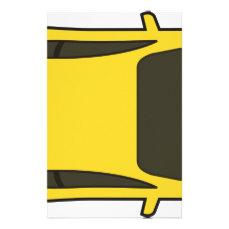 Yellow Sports Car Stationery