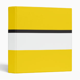 Yellow Sportscar Stripe Binders