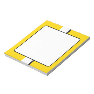 Yellow Sportscar Stripe Notepad