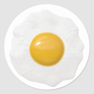 yellow spot classic round sticker