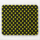 Yellow Spot Polka Dot Mousepad