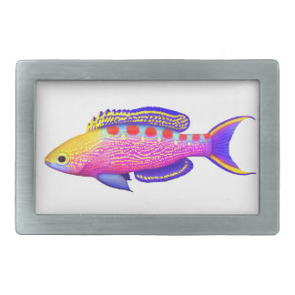 Yellow Spotted Anthias Reef Fish Belt Buckle
