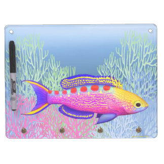 Yellow Spotted Anthias Reef Fish Dry Erase Board