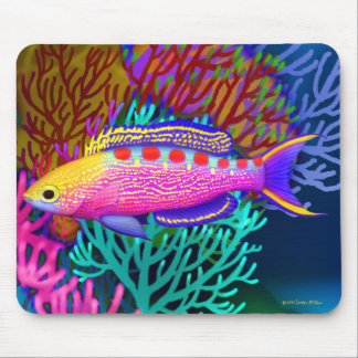 Yellow Spotted Anthias Reef Fish Mousepad