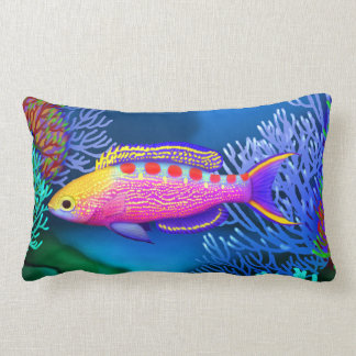 Yellow Spotted Anthias Reef Fish Pillow