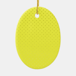 Yellow Spotted Backdrop Ceramic Ornament