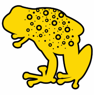 Yellow Spotted Frog Acrylic Cut Outs