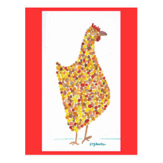 Yellow Spotted Hen Postcard