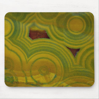 Yellow Spotted Ocean Jasper Mouse Pad