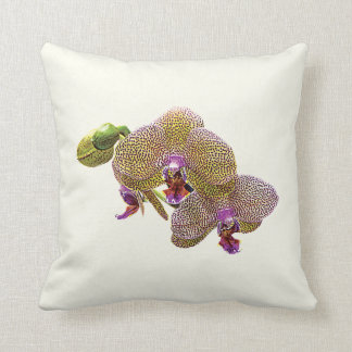 Yellow Spotted Orchids Throw Pillow