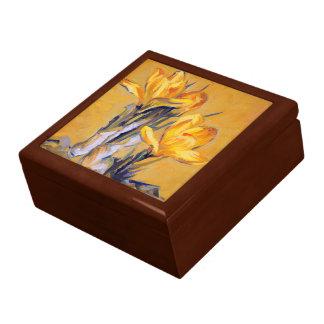 Yellow Spring Crocus Jewelry Box