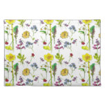 Yellow Spring Daffodil Botanical Watercolor Art Place Mats