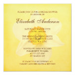 Yellow Spring Daffodil Flower Bridal Shower 5.25x5.25 Square Paper Invitation Card