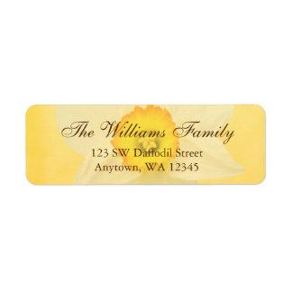 Yellow Spring Daffodil Flower Return Address Label