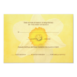 Yellow Spring Daffodil Flower RSVP Response Card