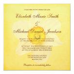 Yellow Spring Daffodil Flower Wedding 5.25x5.25 Square Paper Invitation Card