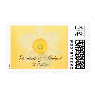Yellow Spring Daffodil Flower Wedding Postage
