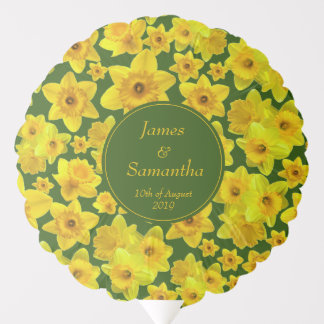 Yellow Spring Daffodil - Wedding Balloon