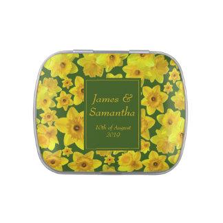 Yellow Spring Daffodil - Wedding Candy Tin