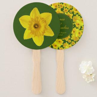 Yellow Spring Daffodil - Wedding Hand Fan