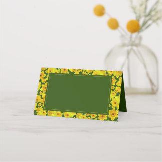 Yellow Spring Daffodil - Wedding Place Card