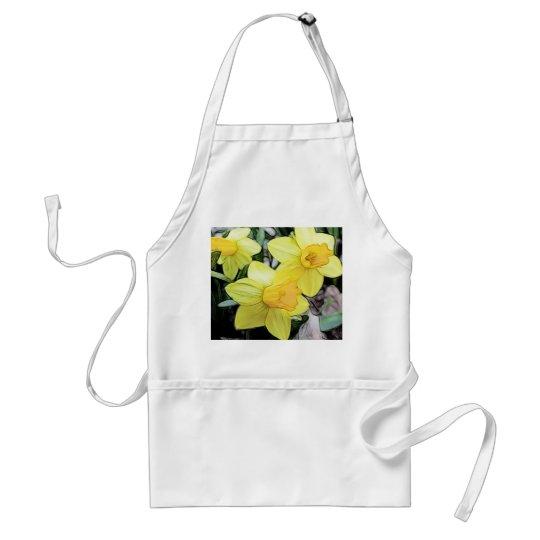 Yellow Spring Daffodils Adult Apron