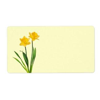 Yellow Spring Daffodils - Daffodil Template Label