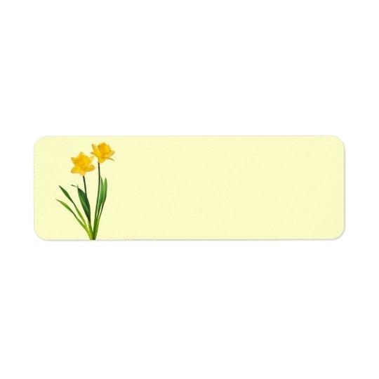 yellow spring daffodils daffodil template label zazzle com