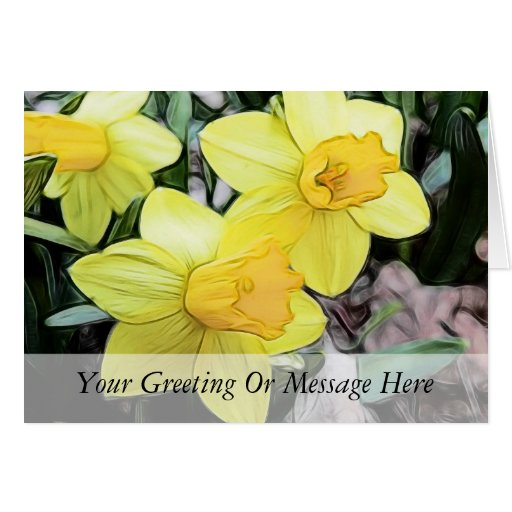 Yellow Spring Daffodils Greeting Card