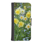 Yellow spring daffodils iphone wallet case iPhone 5 wallet cases